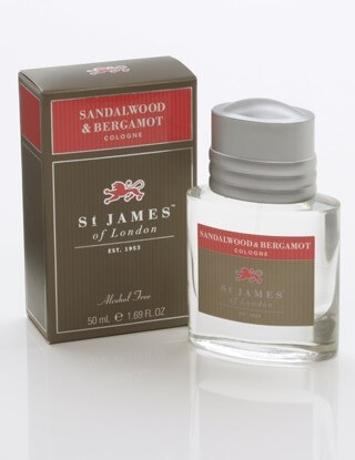 St James of London Sandalwood & Bergamot, kolínská 50 ml