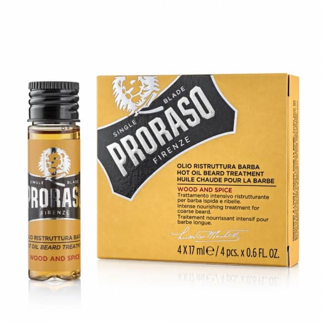 Proraso Hot olej na vousy 4x17 ml