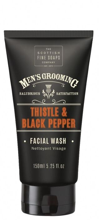 Scottish Fine Soaps Thistle and Black Pepper mycí gel na obličej