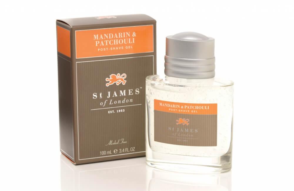 St James of London Mandarin & Patchouli, gel po holení 100 ml
