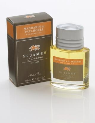 St James of London Mandarin & Patchouli, olej před holením 50 ml