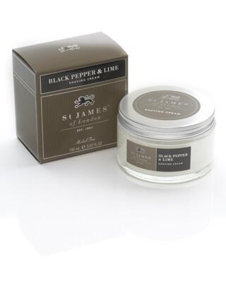 St James of London Black Pepper & Lime, krém na holení 150 ml