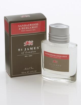 St James of London Sandalwood & Bergamot, gel po holení 100 ml