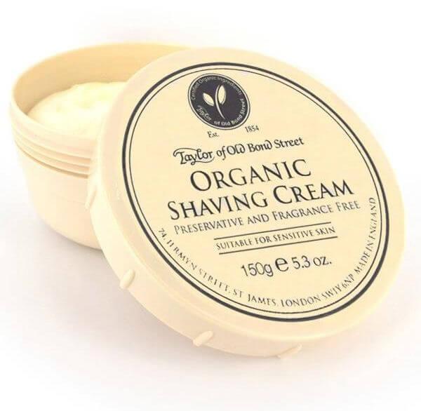 Taylor of Old Bond Street Organic, krém na holení 150g