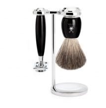 Mühle Vivo Black Pure Badger 3-dílná sada na holení